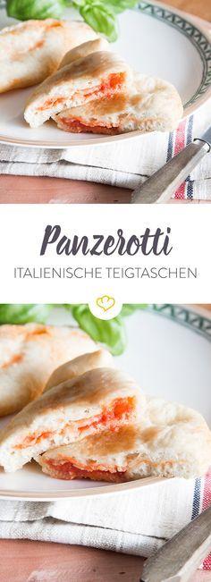 Italienisches Streetfood: Diese Teigtaschen kommen ursprünglich aus Apulien und werden mit Tomate, Mozzarella und Basilikum gefüllt und dann frittiert.