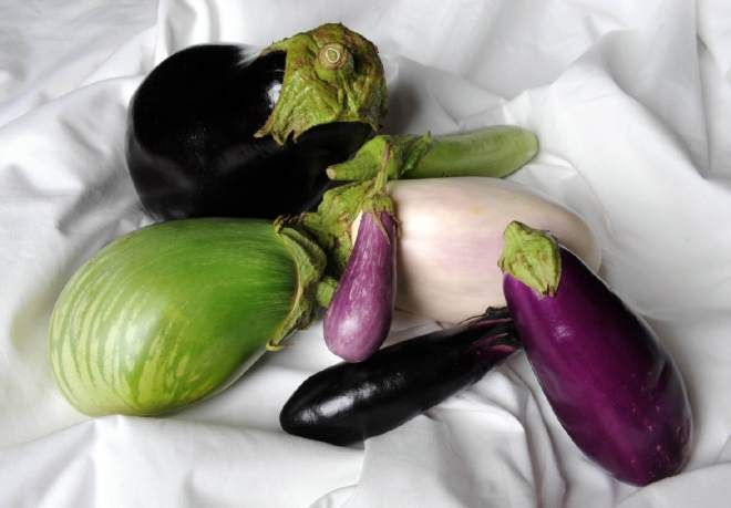 Eggplant, a native of India, is a member of the nightshade family and is related to tomatoes, potatoes and peppers. Thomas Jefferson is credited with introducing eggplant to North America.