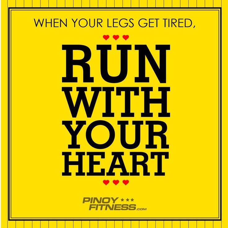 Run with your heart ❤️ - pinoyfitness.com