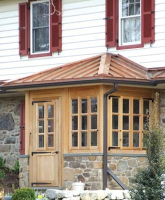 Mud Room Porch on Stone Knee Wall | Screened Porches & Enclosed Porches