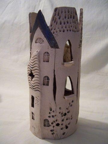 Hohes schmales Städtchen von Keramikwerkstatt - Conni`s Keramik und ausgefallene Bilder auf DaWanda.com