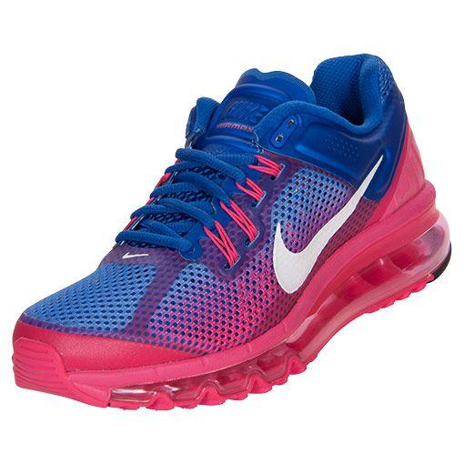 Womens Nike Air Max+ 2013 Premium Running Shoes   FinishLine.com   Hyper Blue/