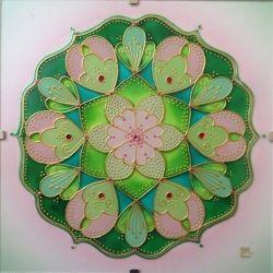 "Mandala Hand Glass drawing Mandala ""Něha lásky"""