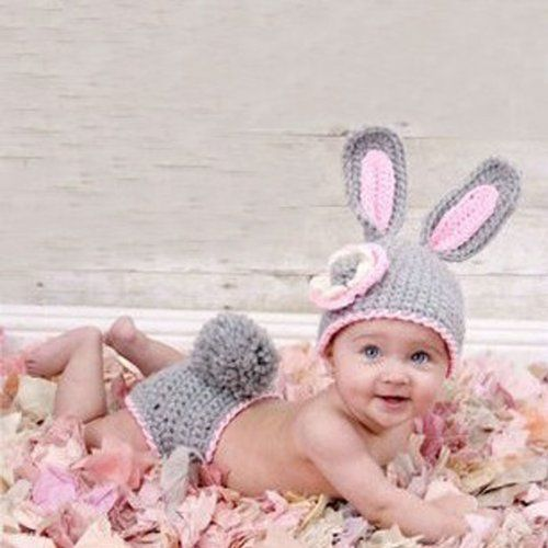 Rabbit Knit Crochet Clothes Photo Prop Outfit just $7.29 & FREE SHIPPING (save 86%)!! - Super Coupon Lady