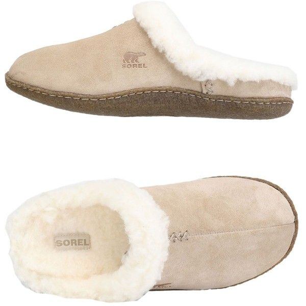 Sorel Slippers (€60) ❤ liked on Polyvore featuring shoes, slippers and beige