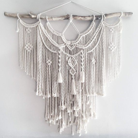 The Dope Rope Large 44″ Macrame Wall Hanging // tapestry // macrame decor // boh…