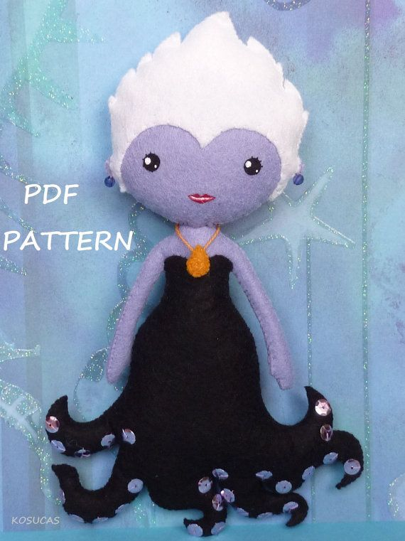 PDF sewing pattern to make a felt doll inspired in por Kosucas, €4.00
