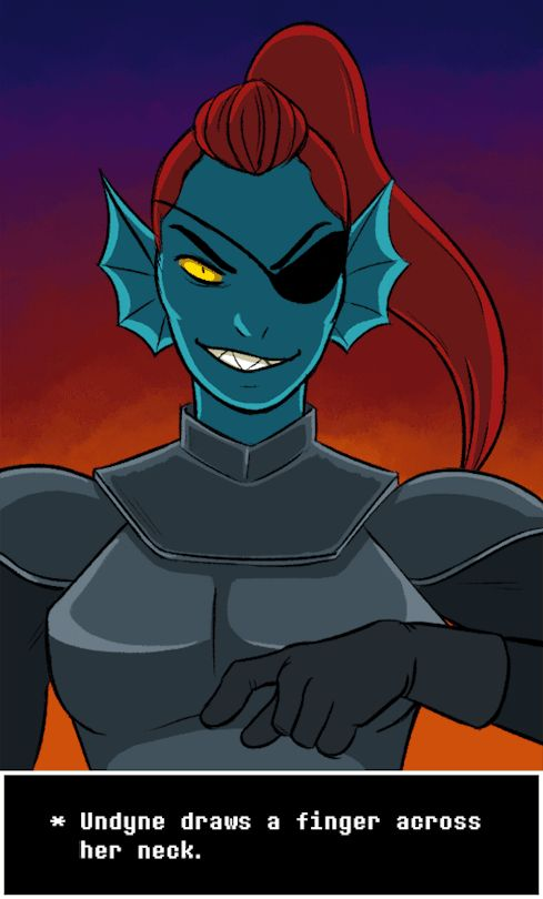 She's one of the coolest people in the game. Undyne, undertale