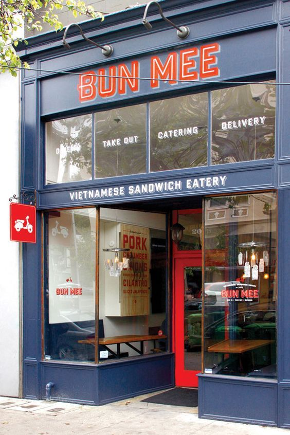 Bun Mee Identity/Branding. A gourmet Vietnamese-inspired sandwich shop: