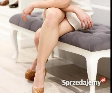 Ławka Ludwik pikowana, ławeczka, sofa, glamour