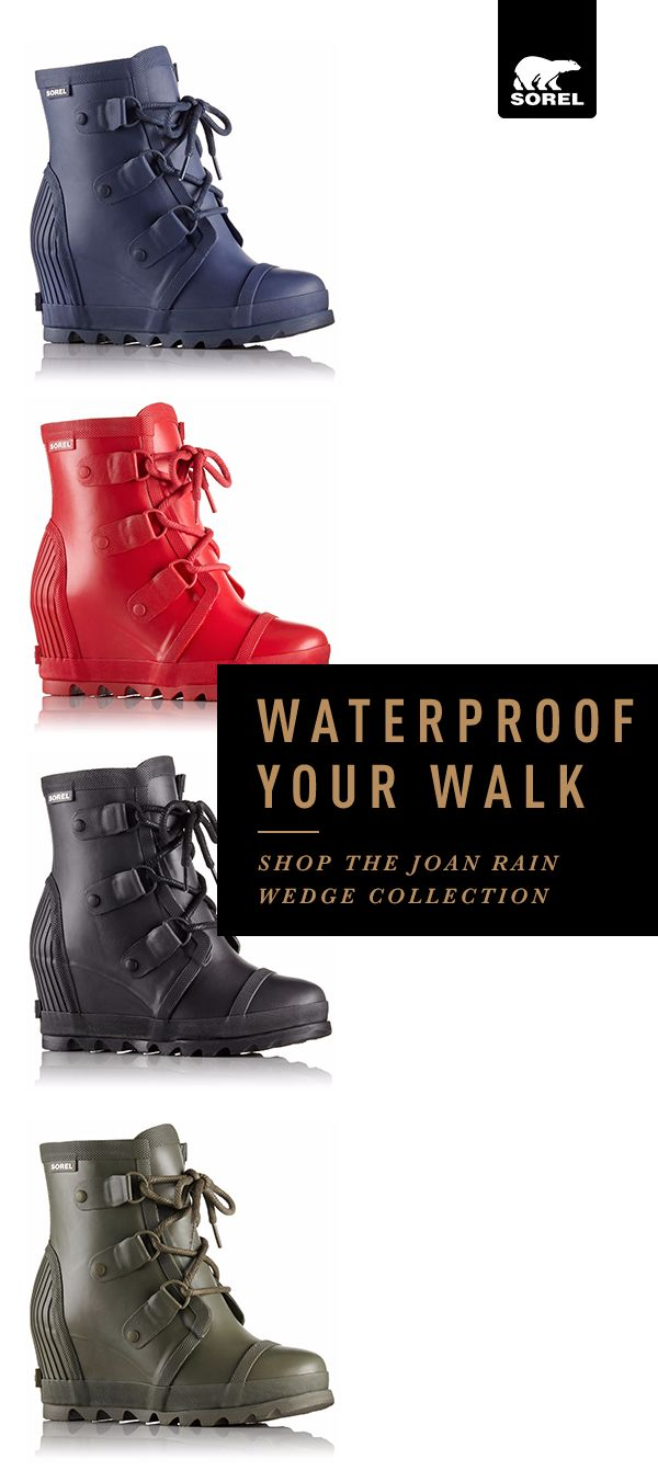 Waterproof your walk while adding flawless finish to your favorite outfits with the Joan Rain Wedge.Inspired by our iconic Joan boot, it's equal parts elegant and tough, making it a new favorite for even the soggiest of day. Shop Joan Rain Wedge – the boot that will keep you comfortable, stylish, and slip-free today.