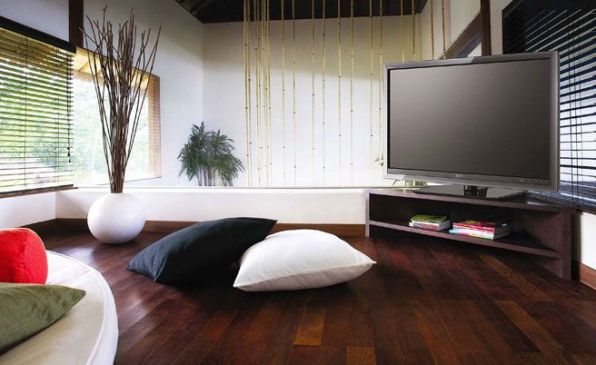 Australian House & Garden - home cinema.  Cool vase with willow branches