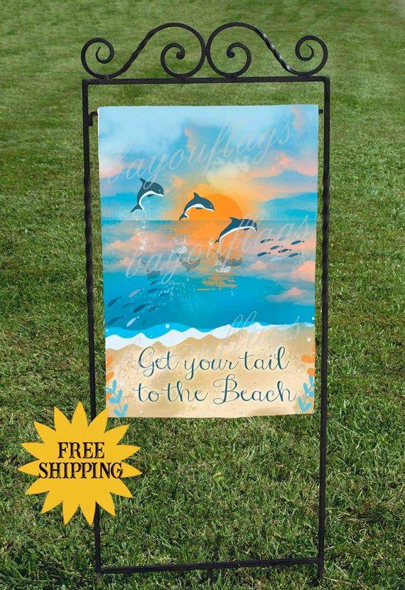 Dolphins Flag Beach Flag Summer Flag Garden Flag Beach Home