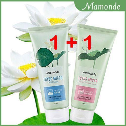 Mamonde Lotus Micro Cleansing Foam 175ml 1+1/skin cleansing foam/Face Cleanser #MAMONDEAmorePacific