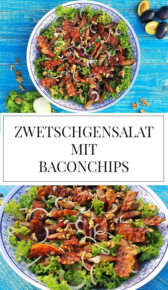 Du suchst einen gesunden, schnellen und leckeren Salat, der perfekt zum Grillen passt? Dann schau dir mal unseren grünen Salat mit Zwetschgen und Baconchips an!