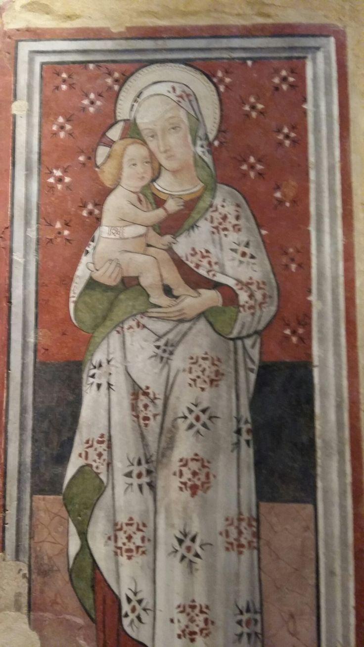 Madonna col Bambino - XIV sec. -  Cossignano