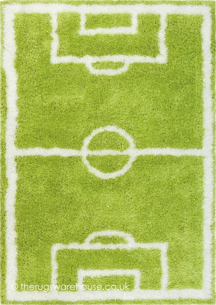 Soccer Pitch Rug A Football Inspired Kids Hand Tufted