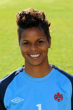 Karina LeBlanc--Portland Thorns    Position: Goalkeeper  Height: 5-10  Born: March 30, 1980, in Atlanta, Georgia  Hometown: Maple Ridge, B.C., Canada  College: Nebraska  Last Club: magicJack