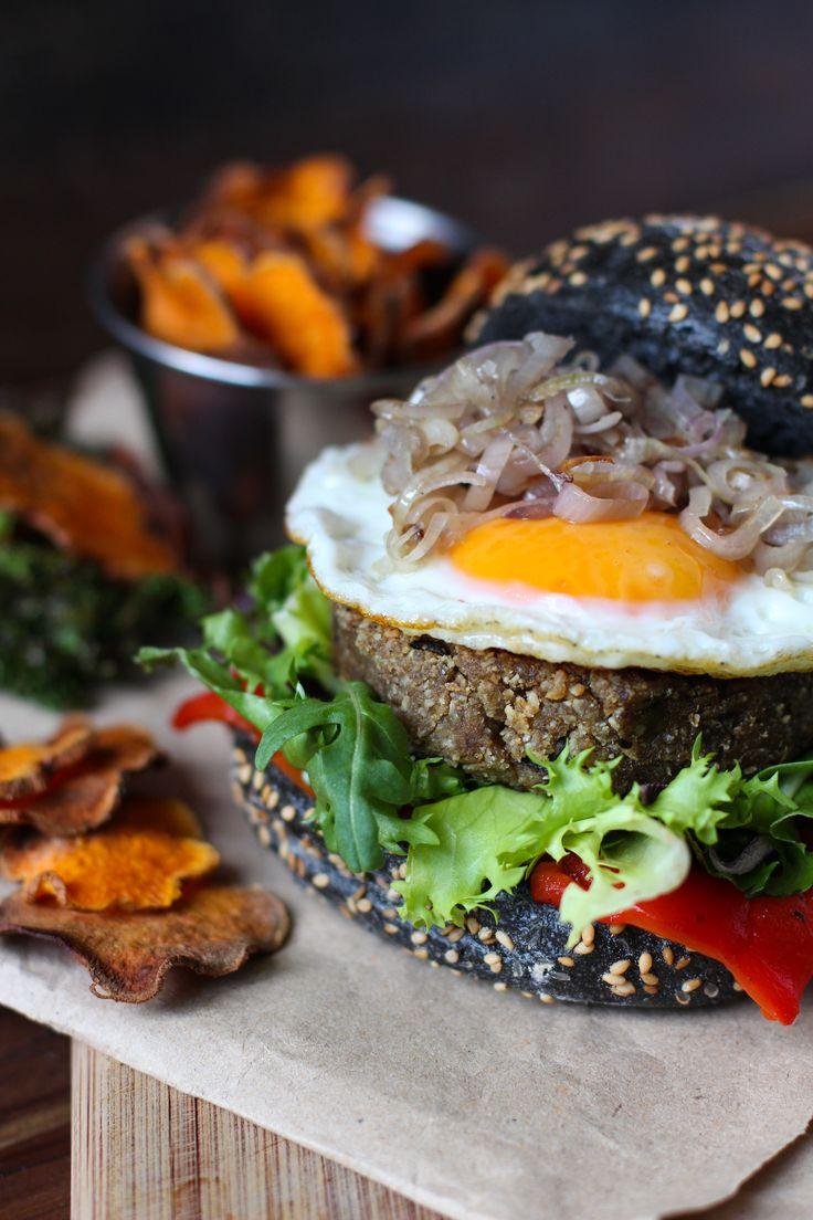 Hamburguesa de berenjena  - Ebook 25 recetas de brunch saludables - www.chilemolepasta.com