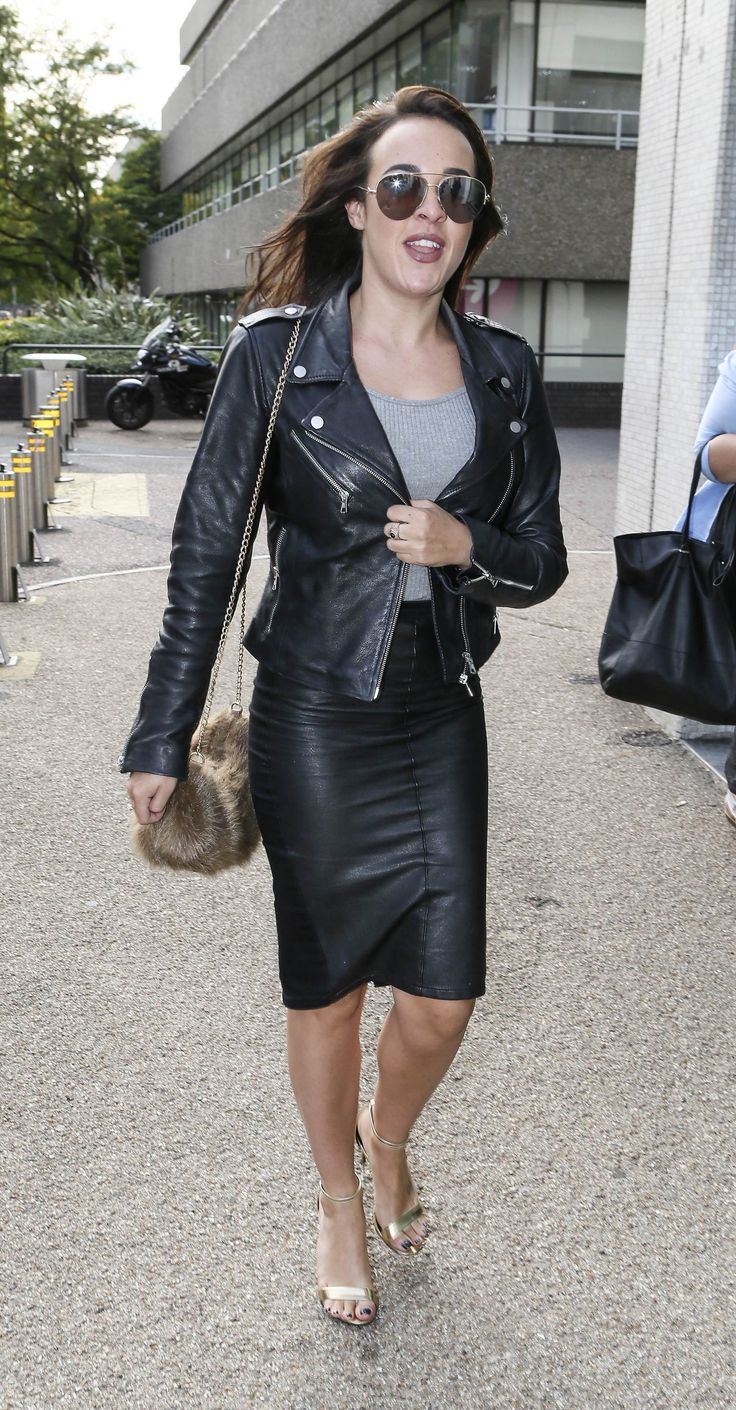 Stephanie Davis seen outside the ITV studios