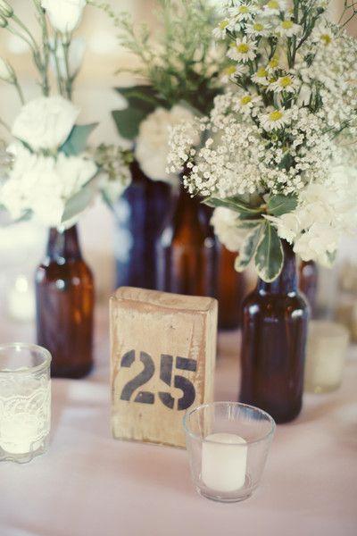 Loving everything about this vintage look! #weddingideas #tablenumbers {Luke Eshleman}