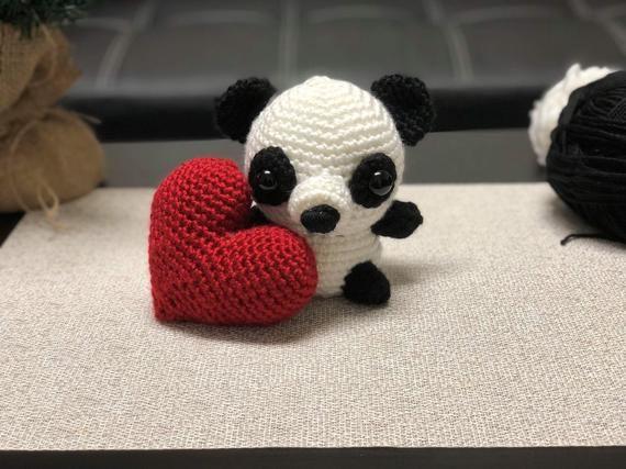 Amigurumi red panda pattern. Amigurumi pattern. Crochet pattern ... | 427x570
