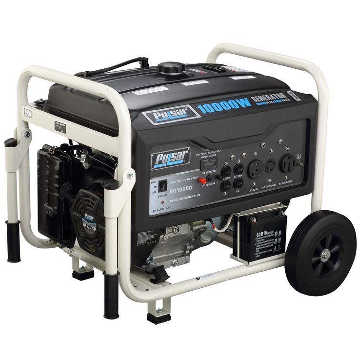 Pulsar Products 10000 watt Gasoline Powered Portable Generator