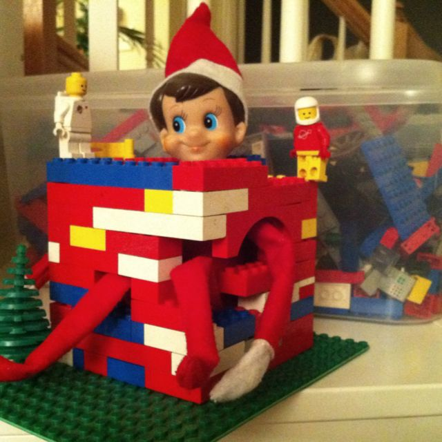 Lego my elf!: Shelf Imprison, Shelf Lego, Elf On Shelf, Lego Ideas, Elfontheshelf Elf, Shelf Ideas, Lego Imprison, Elf On The Shelf, Lego Houses