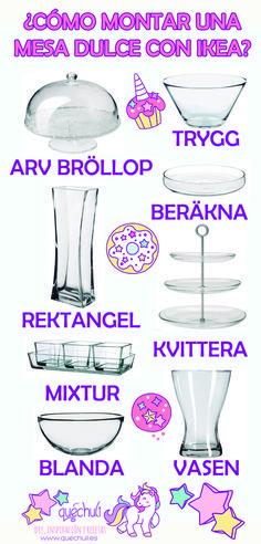 Productos de Ikea para montar mesa dulce