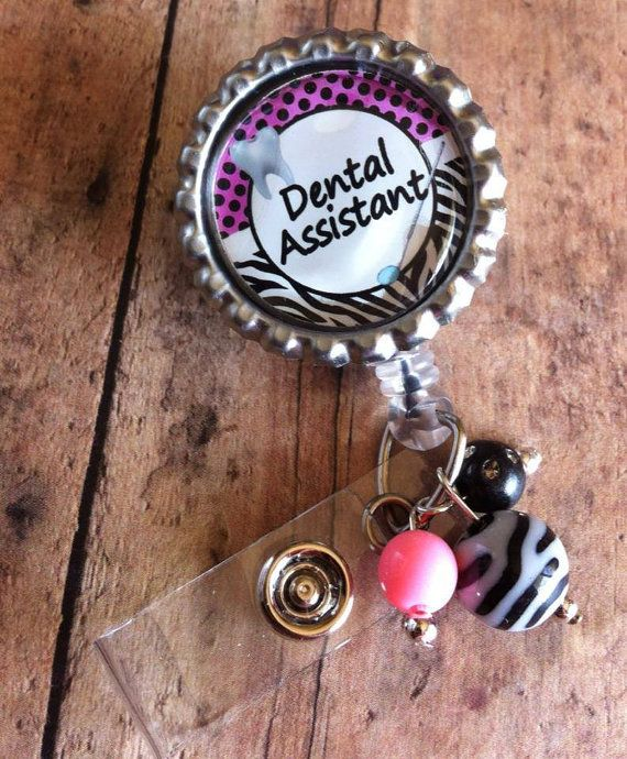 Dental Assistant Badge Retractable Reel by jkbowtique on Etsy