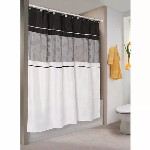 cortina de baño bordada teflón