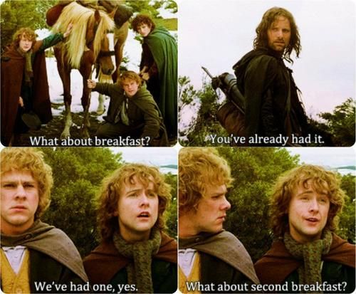 Pippin <3: The Lord, Second Breakfast, Teas Time, The Hobbit, Dinners, Afternoon Teas, Movie, Middle Earth, Funny Hobbit Quotes