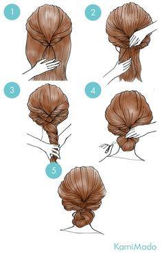 Tutorial de penteado fácil no estilo princesa.                                                                                                                                                                                 Mais