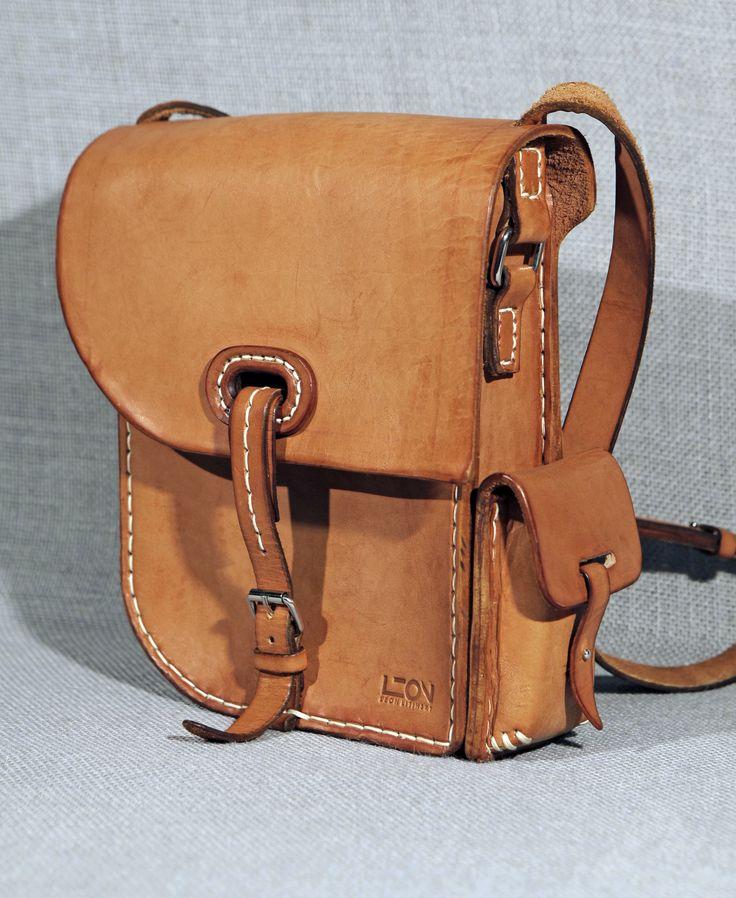 Leather Bag by Leon Litinsky.