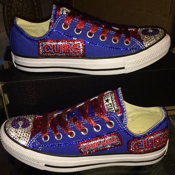 Chicago Style >> Chicago Cubs Converse Shoes - http://cutesportsfan.com/chicago-cubs-designed-sneakers/   Chicago ...
