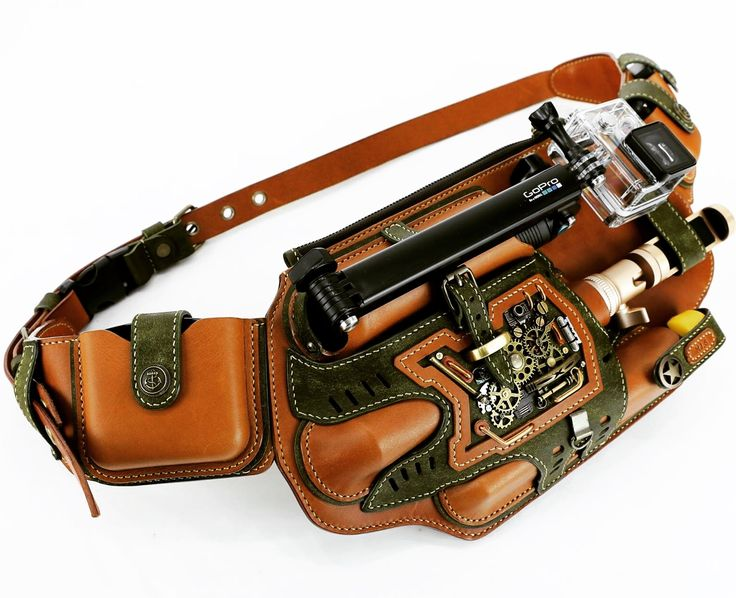 Steampunk Gopro case hipsack by Yun Yeochang