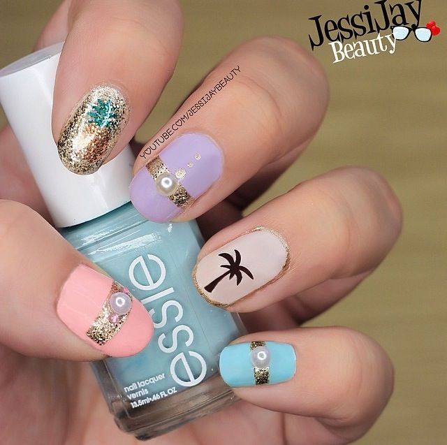 28 best Easy Spring Nail Art images on Pinterest | Autumn nails ...