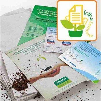 Papel semente personalizado www.brindice.com.br/brindes/papel-semente