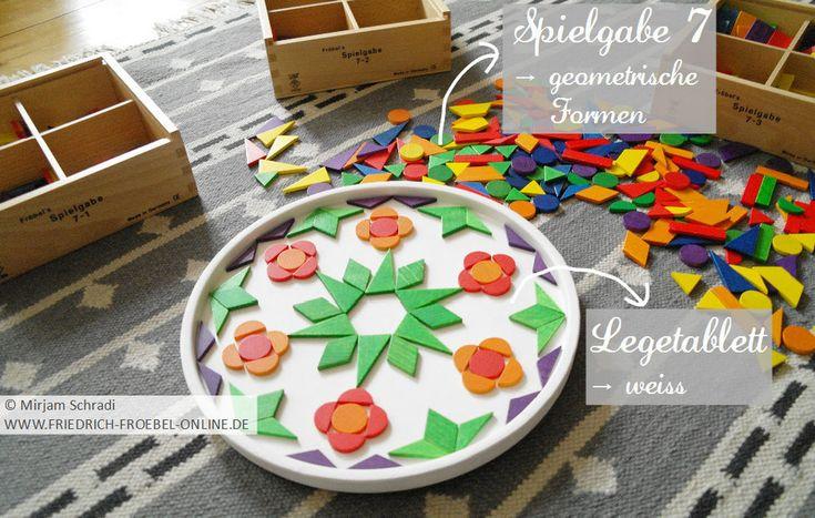 Das brauchst du zum Mandala legen mit geometrischen Formen - Legematerial/ Legespiel Spielgabe 7 nach Friedrich Fröbel