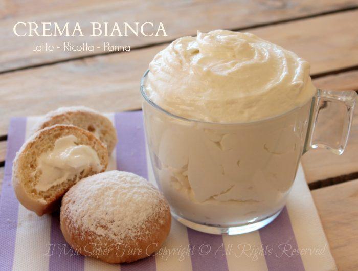 Crema nuvola ricetta senza uova con latte panna e ricotta