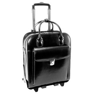 McKlein La Grange Leather Vertical Detachable Rolling Laptop Case - Free Shipping Today - Overstock.com - 13067085 - Mobile