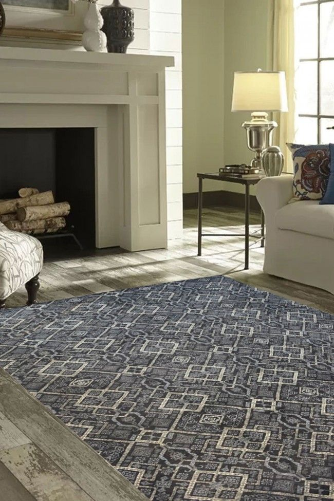 Enhance The Beauty Of Your Home By Placing This One Of A Kind Constellation Handknotted Modern Carpet