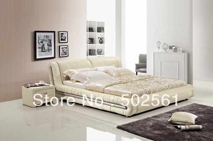 Современные King size Королева современная натуральная кожа кровать Китай мягкая мебель для спальни