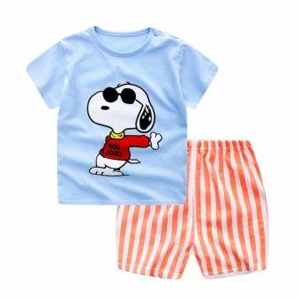 เก็บเงินปลายทาง  Summer Baby Boy Girl Clothes Short Top + Pants 2pcs/set CartoonSport Suit Baby Clothing Set Newborn Infant Clothing - Dog - intl  ราคาเพียง  194 บาท  เท่านั้น คุณสมบัติ มีดังนี้ Number of packages: twopieces For the season: Summer Applicable to the scene: birthday,daily 100% cotton soft and comfortable