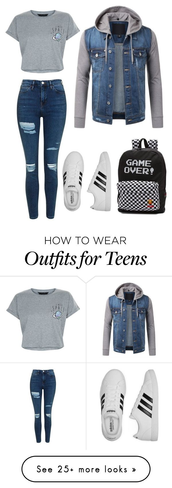 """Untitled #5"" by sonumagar on Polyvore featuring New Look, Topshop, adidas and Vans"