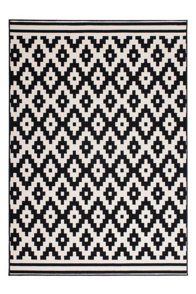 Now Vloerkleed 80x150 Zwart/Wit