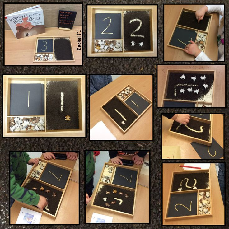 """Number recognition, counting and mark making in tea leaves - from Rachel ("""",)"""