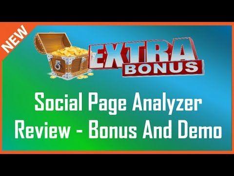 Social Page Analyzer Review | Huge Social Page Analyzer Bonus - YouTube