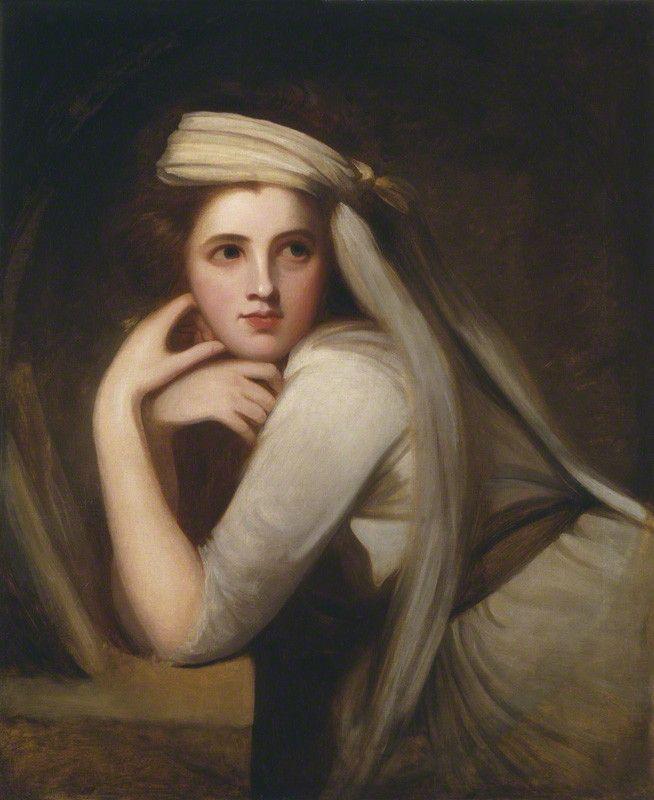 George Romney, Portrait of Emma Hart, later Lady Hamilton, c. 1785, Oil on canvas, 73.7 x 59.7 cm (NPG)