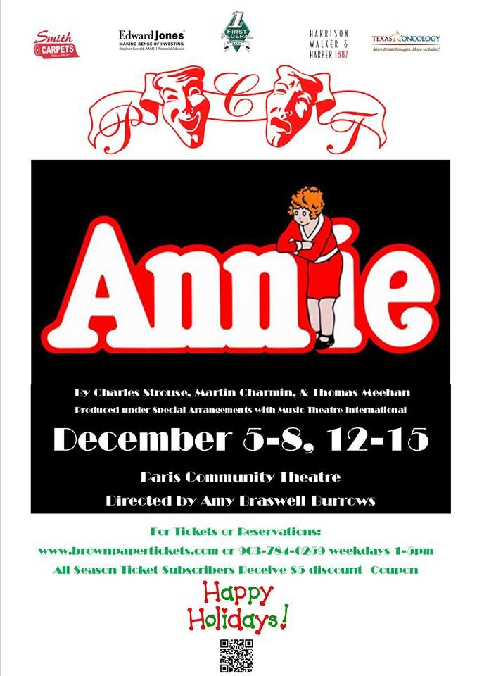 Annie is Cast!  Congrats and Thank you to ALL who auditioned!  www.pctonstage.com